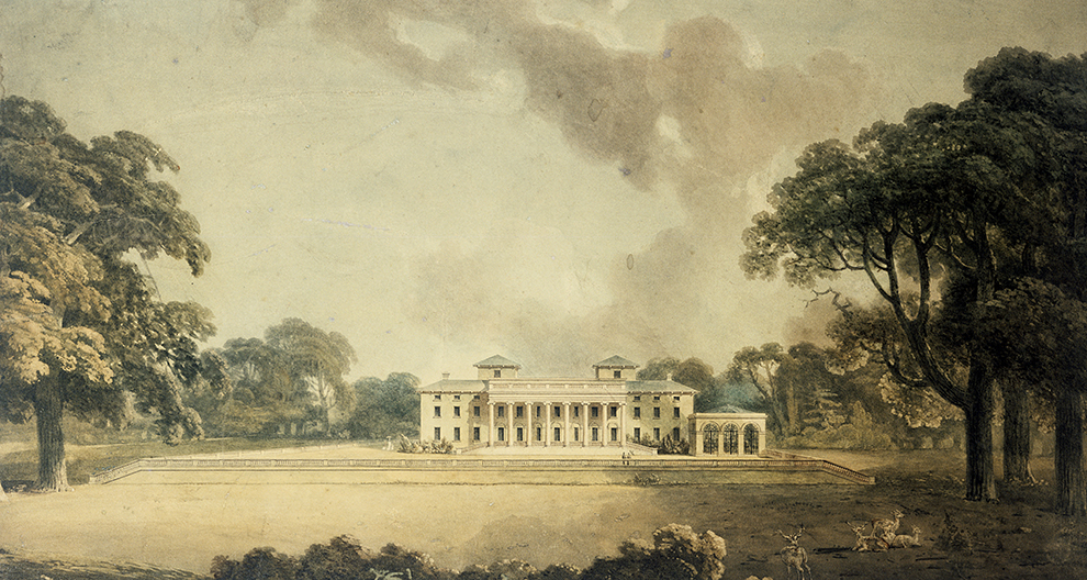 Design for alterations 至 the garden front of Witley Court